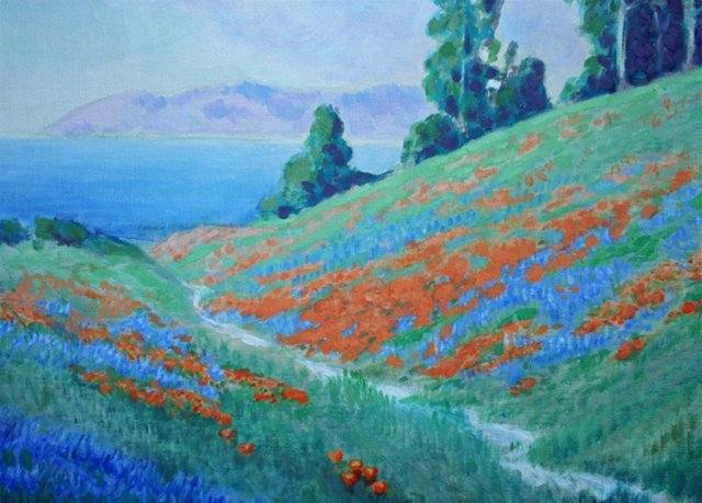 Flower Path to the Sea by O.C. Applegate