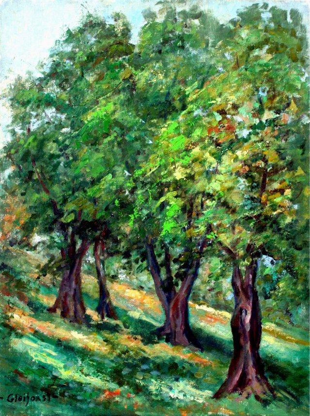 Four Trees by Helen Gleiforst