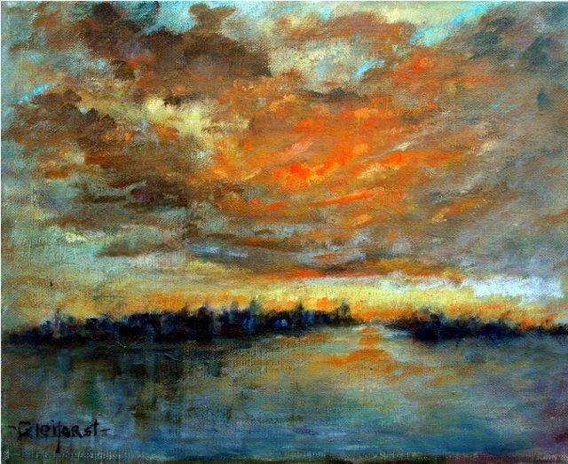 New York Sunset by Helen Gleiforst