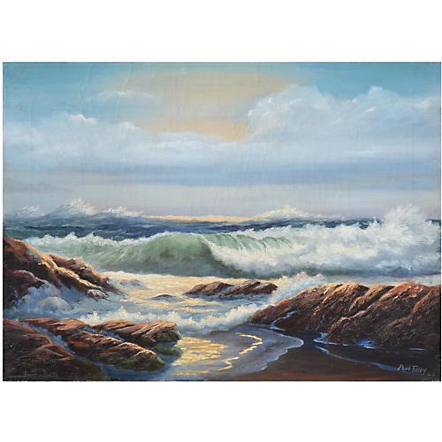 Carmel Seascape by Paul Tilley, 1962