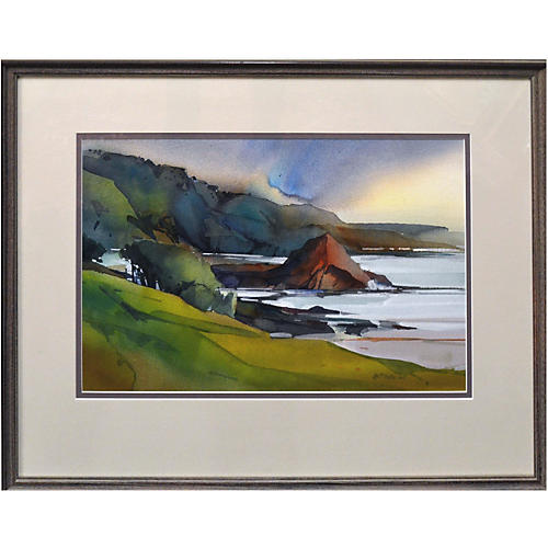 Coastal Watercolor by Dale Laitinen
