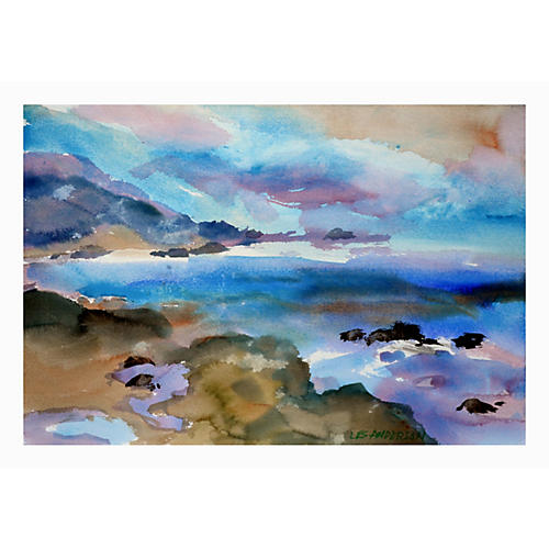 Coastal Watercolor by Les Anderson