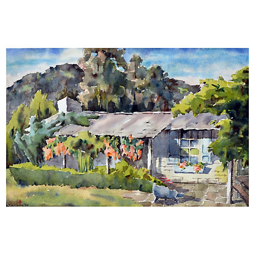 Carmel Valley Adobe by Sidney Williams