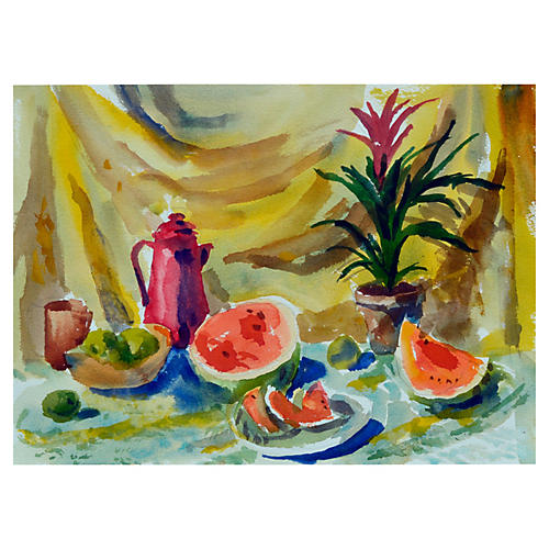 Melon Still Life by Les Anderson