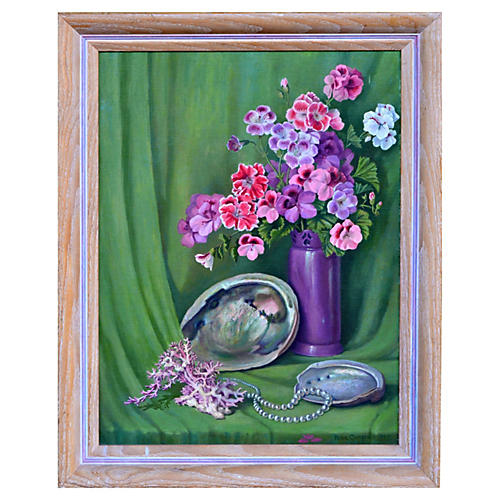 Geranium Still Life by Rose Campbell