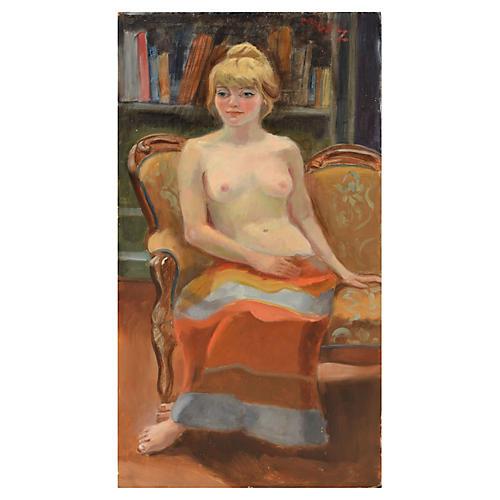 Demure Nude by Margaret Wherry Zeigler