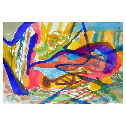 Blue & Magenta Abstract