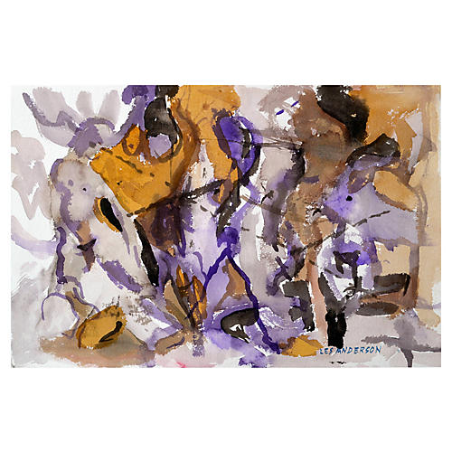 Purple Mixed Abstract by Les Anderson