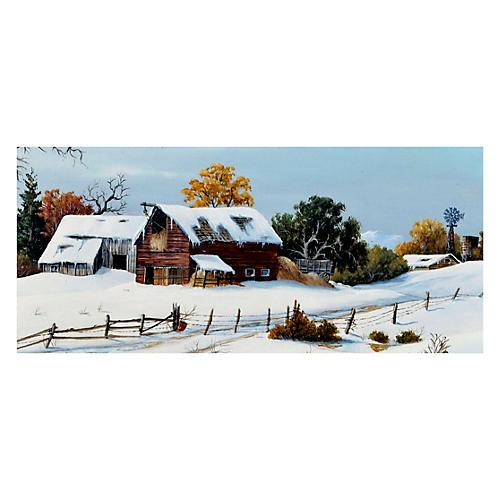 Snow Barns by Robert F. McFarren