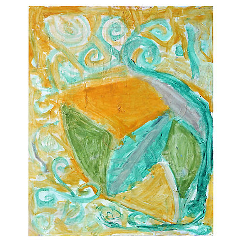 In the Garden Abstract by Kristin Cohen