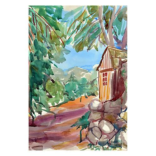 Sierras Overlook by Virginia Hughins