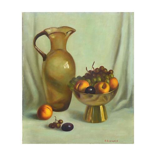 Pitcher & Fruit Still Life, C. 1960