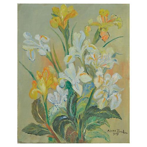Yellow & White Japanese Irises
