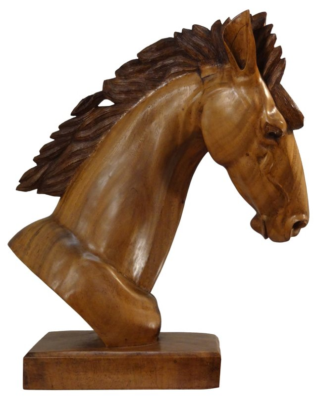 c.1910 Walnut Horse Carving