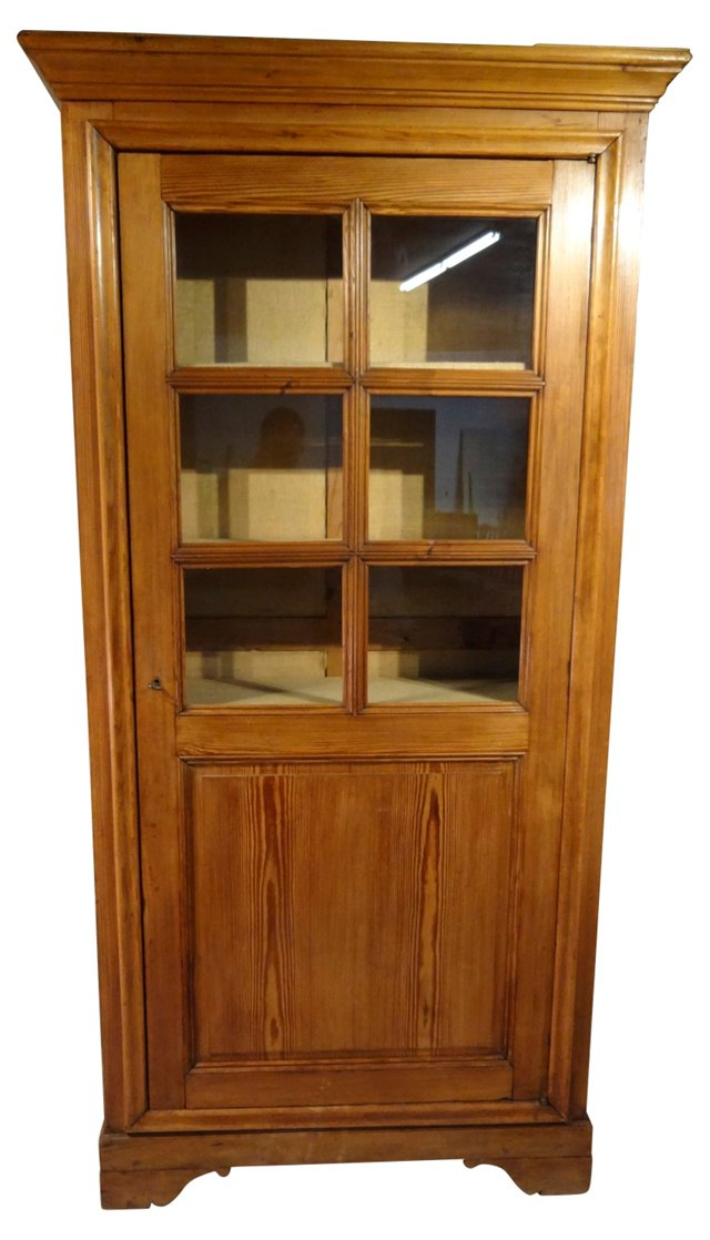 19th-C. French Pine Bookcase