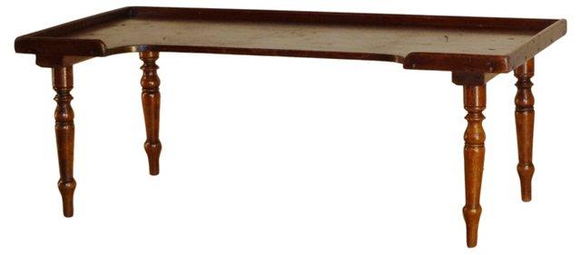 19th-C. Mahogany Bed Tray