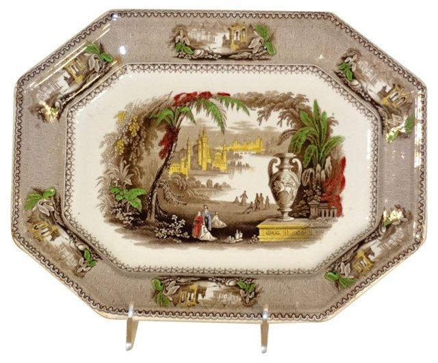 19th-C. Transfer Platter