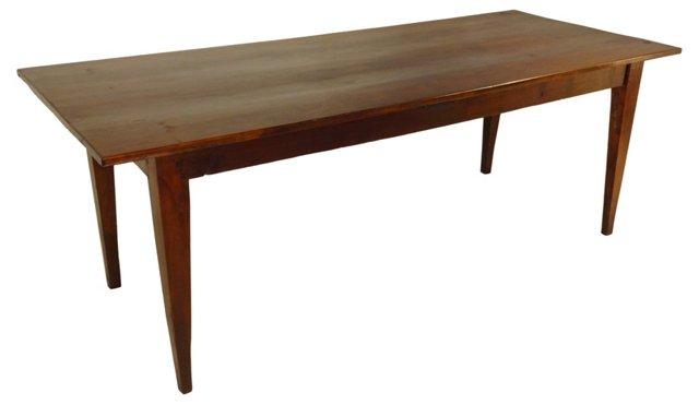 19th-C. French Walnut Farm Table