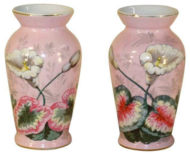 19th-C. English Vases, Pair