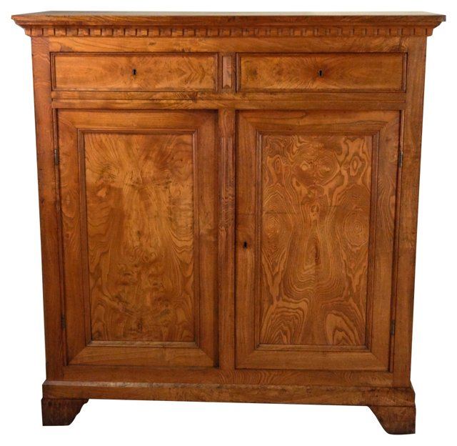 19th-C. Ash Wood Buffet