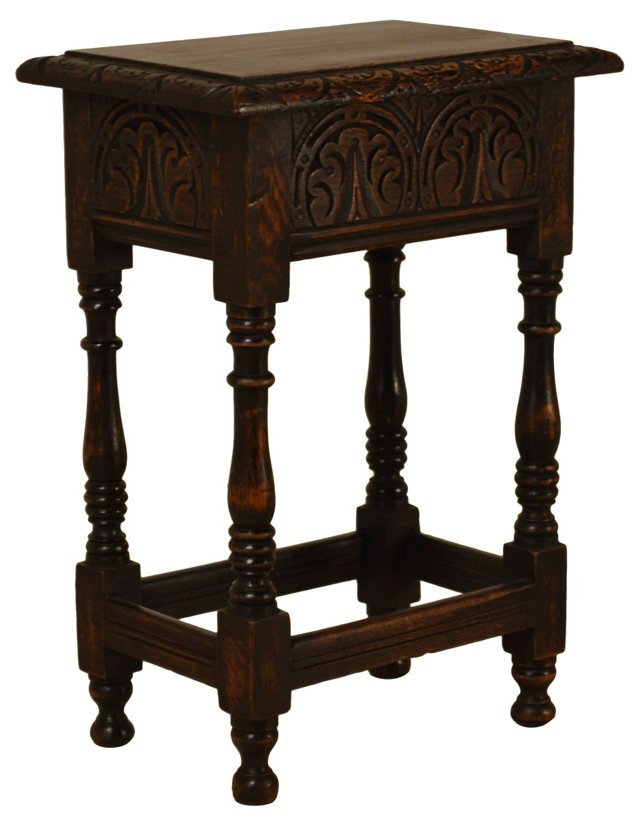 19th-C. Lift-Top Joint Stool