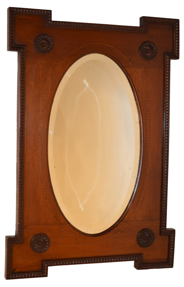 19th-C. English Mahogany Mirror