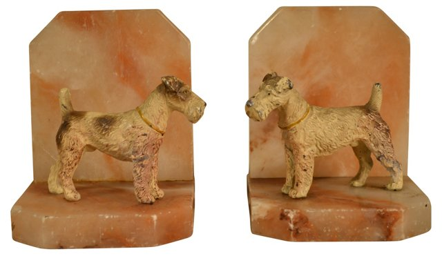 Dog Bookends, C. 1930s