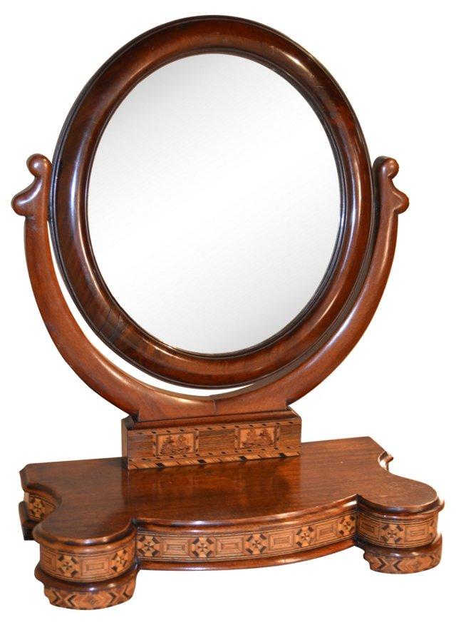 19th-C. Tunbridge Dresser Mirror