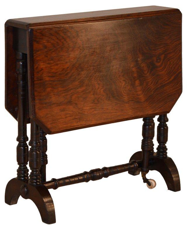19th-C. English Narrow Gate-Leg Table