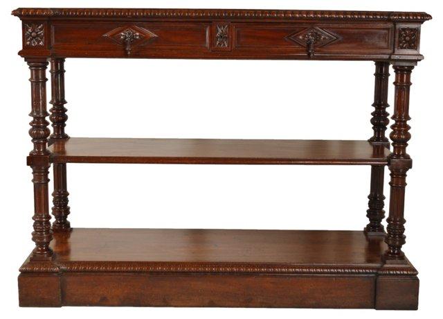 19th-C. French Walnut   Sideboard