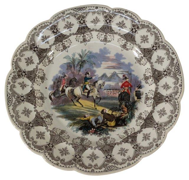 19th-C. English   Napoleon   Plate