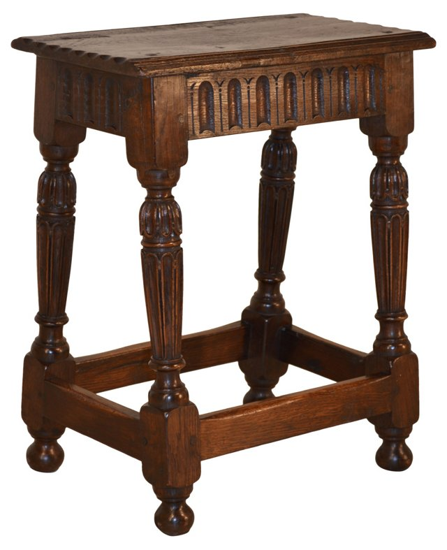 English  Joint  Stool, C. 1720