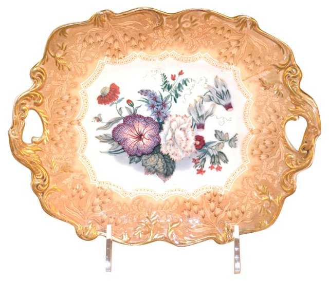 19th-C. English Bouquet Compote