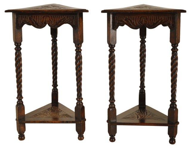 19th-C. English    Side Tables, Pair