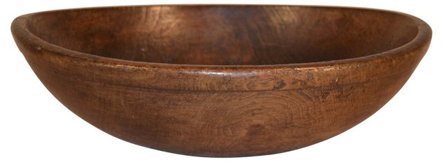 19th-C. American Maple Bowl