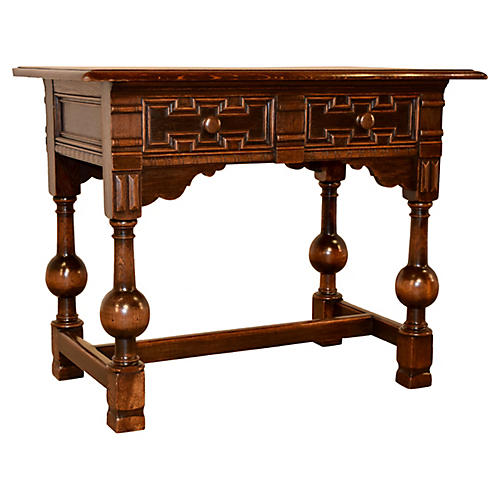 19th-C. English Library Table