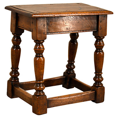 Early 18th-C. Joint Stool