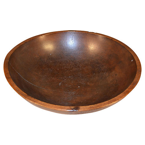 19th-C. Turned Wood Bowl