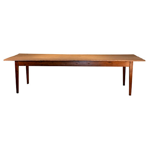 19th-C. Long Pine Farm Table