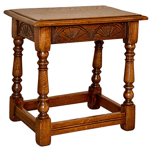 English Oak Stool, c. 1900