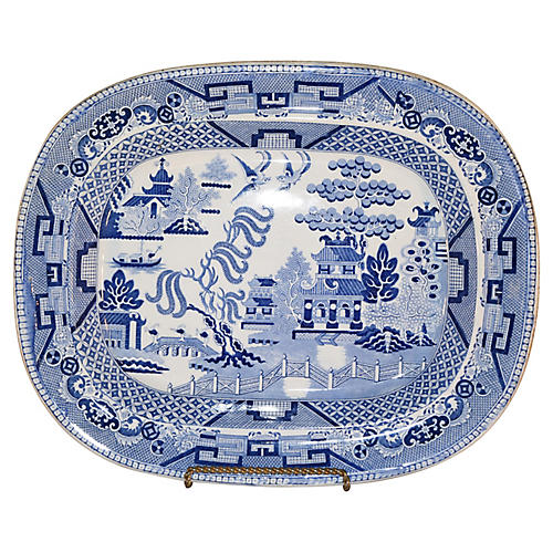 19th-C. Staffordshire Platter