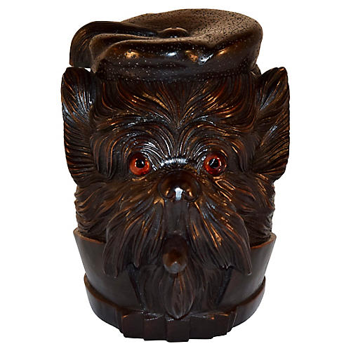19th-C. Black Forest Carved Humidor