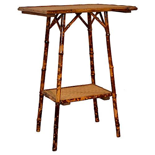 Art Nouveau Bamboo Side Table