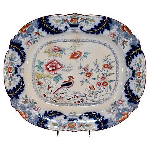 19th-C. Ironstone Platter
