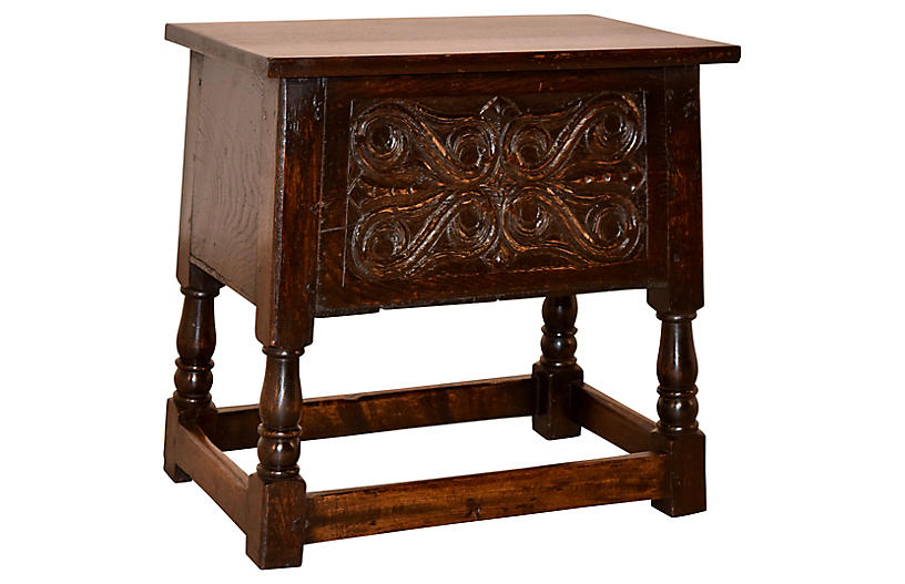 Late 19th-C. Lift Top Stool