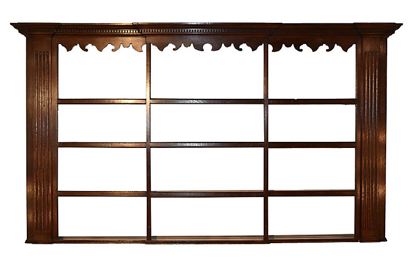 18th-C. English Wall Shelf