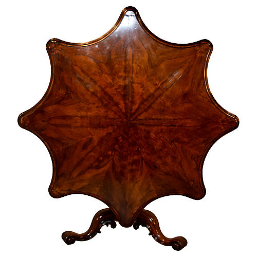 19th-C. English Tilt-Top Table
