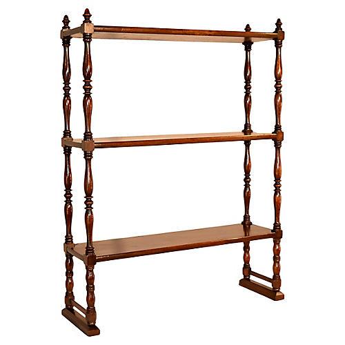 19th-C. Small Mahogany Shelf