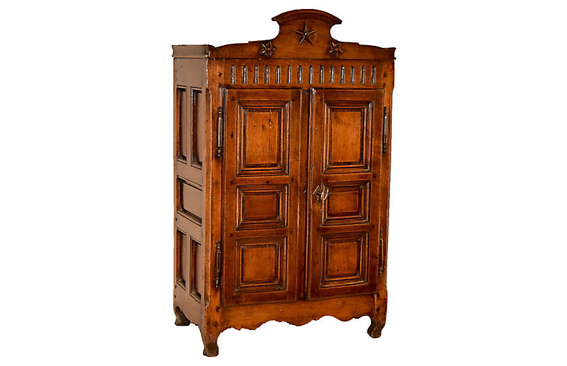 19th-C. French Diminutive Armoire