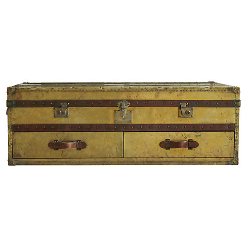 English Campaign Coffee Table / Trunk